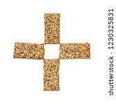 cross shaped rye flatbread... | Shutterstock . vector #1230325831