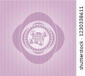 social network icon inside pink ... | Shutterstock .eps vector #1230338611