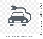 electro car icon. trendy flat... | Shutterstock .eps vector #1230349774