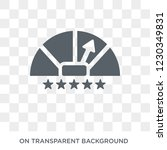 credit rating icon. trendy flat ... | Shutterstock .eps vector #1230349831