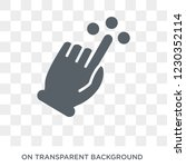touch and move gesture icon....   Shutterstock .eps vector #1230352114