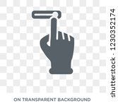 push to unlock gesture icon.... | Shutterstock .eps vector #1230352174