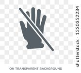 no touch gesture icon. trendy...   Shutterstock .eps vector #1230352234