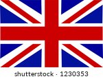 this is the union jack flag. | Shutterstock .eps vector #1230353