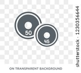 weight plates icon. trendy flat ... | Shutterstock .eps vector #1230356644