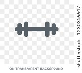 weight bar icon. trendy flat... | Shutterstock .eps vector #1230356647