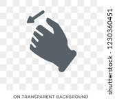 tactile command down gesture... | Shutterstock .eps vector #1230360451