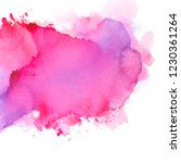brushed pink watercolor... | Shutterstock . vector #1230361264