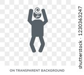 crazy human icon. trendy flat... | Shutterstock .eps vector #1230363247