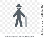 grandfather icon. trendy flat...   Shutterstock .eps vector #1230363391
