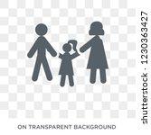 parent icon. trendy flat vector ... | Shutterstock .eps vector #1230363427