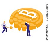 bitcoin cryptocurrency design | Shutterstock .eps vector #1230372091