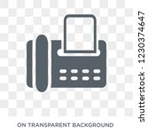 fax icon. trendy flat vector... | Shutterstock .eps vector #1230374647