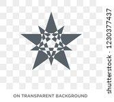 polygonal multiple stars icon.... | Shutterstock .eps vector #1230377437