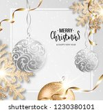 abstract vector christmas... | Shutterstock .eps vector #1230380101