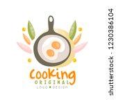 cooking original logo design ... | Shutterstock .eps vector #1230386104