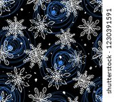 snowflakes on a black... | Shutterstock .eps vector #1230391591