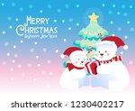 merry christmas polar bears... | Shutterstock .eps vector #1230402217