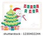 merry christmas polar bears... | Shutterstock .eps vector #1230402244
