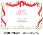 floral christmas decoration... | Shutterstock .eps vector #1230402247