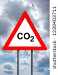warning sign   co2 emmisions.... | Shutterstock . vector #1230403711