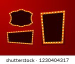 vintage 3d light retro frames.... | Shutterstock .eps vector #1230404317