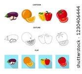 vector design of vegetable and... | Shutterstock .eps vector #1230406444