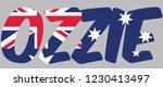 ozzie is australian slang for... | Shutterstock .eps vector #1230413497