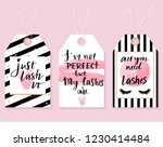 vector fashion tags with lashes ... | Shutterstock .eps vector #1230414484