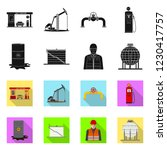 vector illustration of oil and... | Shutterstock .eps vector #1230417757