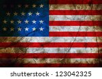 grunge flag of usa | Shutterstock . vector #123042325