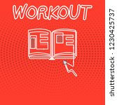 writing note showing workout.... | Shutterstock . vector #1230425737