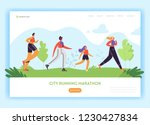 healthy lifestyle landing page... | Shutterstock .eps vector #1230427834
