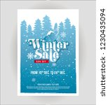 winter sale  offer poster... | Shutterstock .eps vector #1230435094