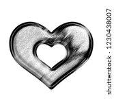 black   white metallic chrome... | Shutterstock . vector #1230438007