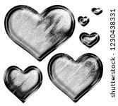 black   white metallic chrome... | Shutterstock . vector #1230438331