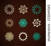 vector retro sun icons set | Shutterstock .eps vector #123044365