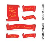 our big sale set of red banners | Shutterstock .eps vector #1230453631