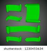 set of green banners | Shutterstock .eps vector #1230453634