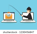 login into account in email... | Shutterstock .eps vector #1230456847