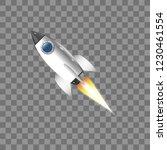 rocket  icon. vector...   Shutterstock .eps vector #1230461554