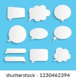 white blank retro speech... | Shutterstock .eps vector #1230462394