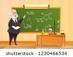 teacher at the blackboard in... | Shutterstock .eps vector #1230466534
