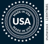 made in usa emblem  label ... | Shutterstock .eps vector #1230478681