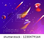 colorful geometric background.... | Shutterstock .eps vector #1230479164