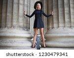 beautiful long legged blonde in ...   Shutterstock . vector #1230479341