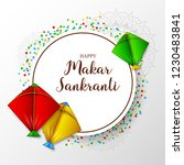 makar sankranti greeting card... | Shutterstock .eps vector #1230483841