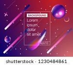 colorful geometric background.... | Shutterstock .eps vector #1230484861