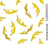 Golden Vector Seamless Pattern...