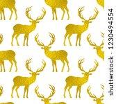 seamless pattern with golden... | Shutterstock .eps vector #1230494554